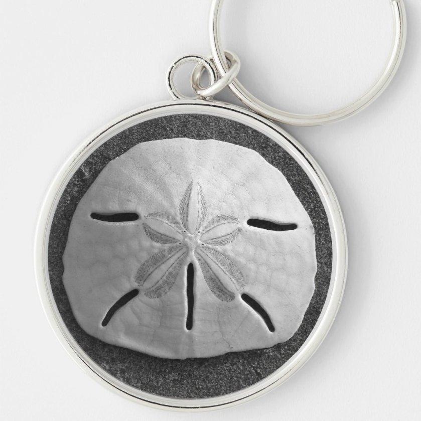 Sand Dollar Sea Shell Ocean Beach Keychain
