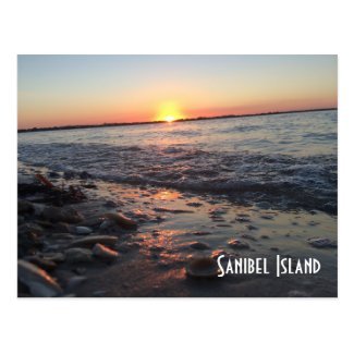 Sanibel Island sunset postcard