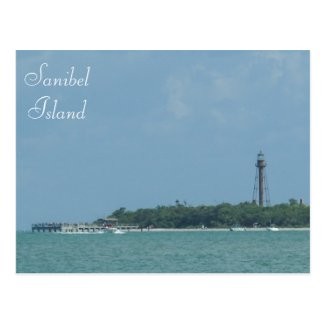 Sanibel Lighthouse Beach postcard