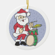 Santa Drummer Christmas Ornament