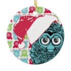 Santa Furby Ornaments