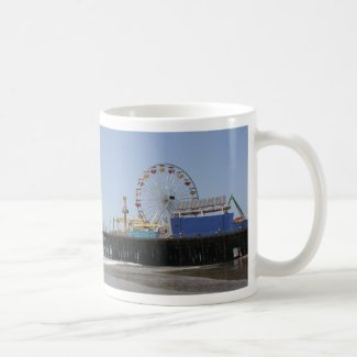Santa Monica Pier Classic White Coffee Mug