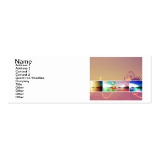 Santa Monica Pier Photo Collage Double-Sided Mini Business Cards (Pack Of 20)