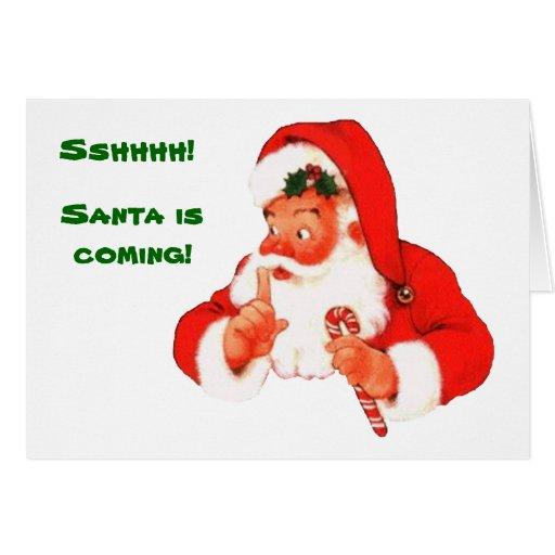 Santa Naughty or Nice Christmas Card | Zazzle
