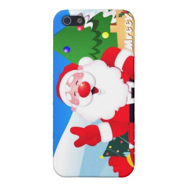 Santa Peace Sign Xmas Case For iPhone SE/5/5s