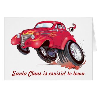 Santa's 39 Chevy Christmas card