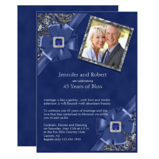 Royal Blue Fl Wedding Invitations