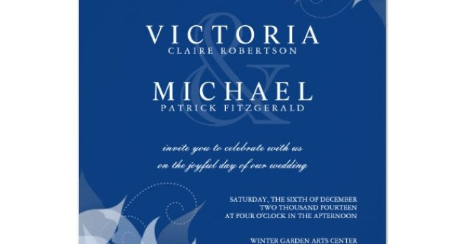 Sapphire Blue Mint Green Wedding Invitations Zazzle