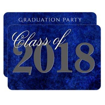 Sapphire Graduation | Blue Class of 2018 Party Card