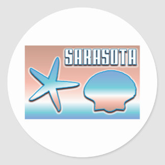 Sarasota Shells Round Stickers