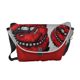 Sassy Bling Lips Man Eater Rickshaw Bag