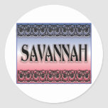 Savannah Scrollwork stickers