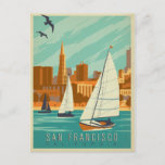 Save the Date | San Francisco, CA - Sailboats Announcement Postcard