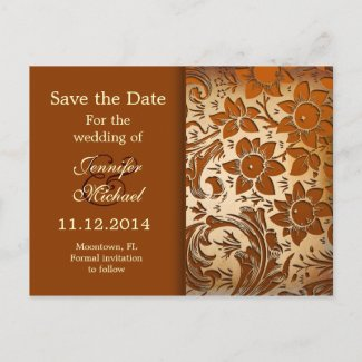 save the date vintage golden postal cards post cards