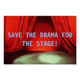 Save the Drama - Available at Zazzle