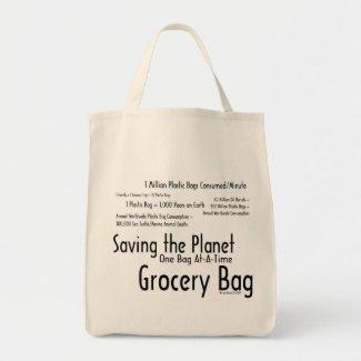 Saving the Planet One Bag At-A-Time Grocery Bag 1 bag