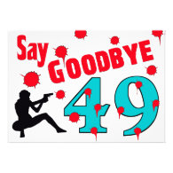 Say Goodbye To 49 A 50th Birthday Celebration Custom Announcements