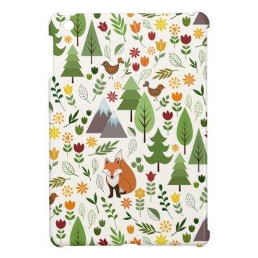 Scandinavian Style Illustrations on Cream Pattern Case For The iPad Mini