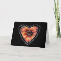 Scarlet Heart Valentine Love Romance Card