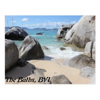 Scenic Beach at The Baths on Virgin Gorda, BVI Postcard