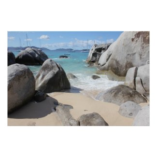 Scenic Beach at The Baths on Virgin Gorda, BVI Posters