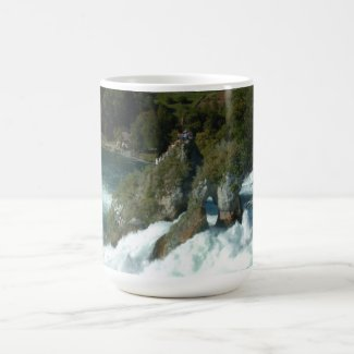 Scenic Rhine Falls in Switzerland Classic White Coffee Mug