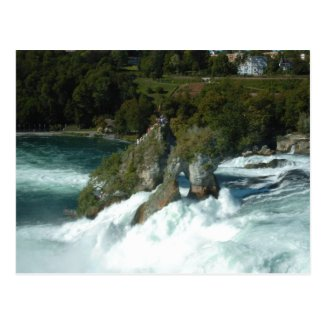 Scenic Rhine Falls in Switzerland Postcard