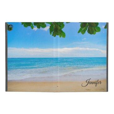 "Scenic Tropical Beach Sun Sand and Surf Custom iPad Pro 9.7"" Case"