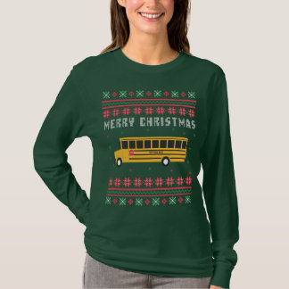 School Bus Ugly Christmas Sweater