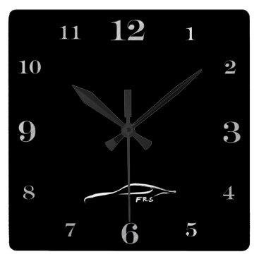 Scion FRS white brushstroke logo Square Wall Clock
