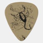 Scorpio Constellation Hevelius 1690 Oct23 -Nov 21 Guitar Pick