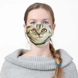 Scottish Cat Face Cloth Face Mask