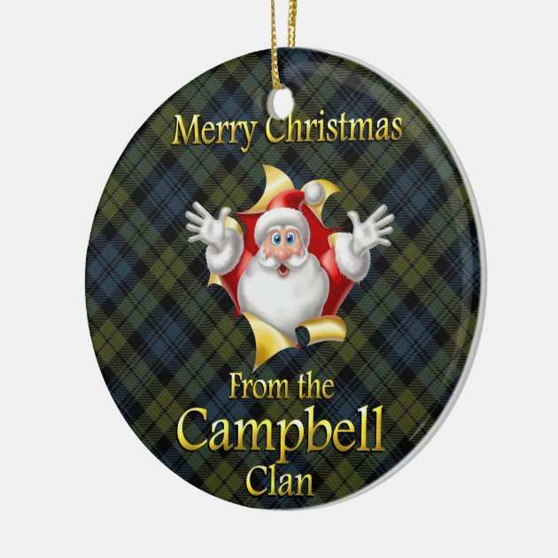 Scottish Clan Campbell Christmas Ornament Zazzle