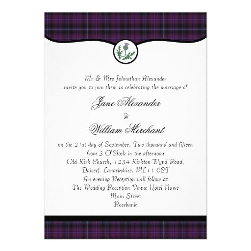 Personalized Scottish Invitations Custominvitations4u Com