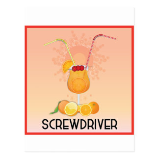 Screwdriver Postcard