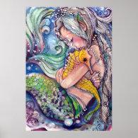 Sea Horse Hugs Poster