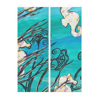 Sea Horses wrappedcanvas
