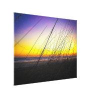 Sea Oats at Sunrise on Daytona Beach IV Stretched Canvas Prints