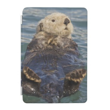 Sea otters play on icebergs at Surprise Inlet iPad Mini Cover
