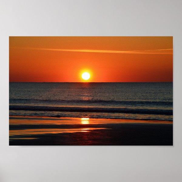 Seabrook Island Beach Sunrise Poster