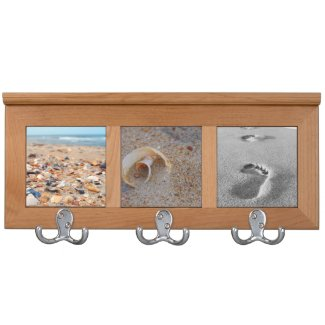 Seashells and Sand on the Beach Coat Rack Coat Rack