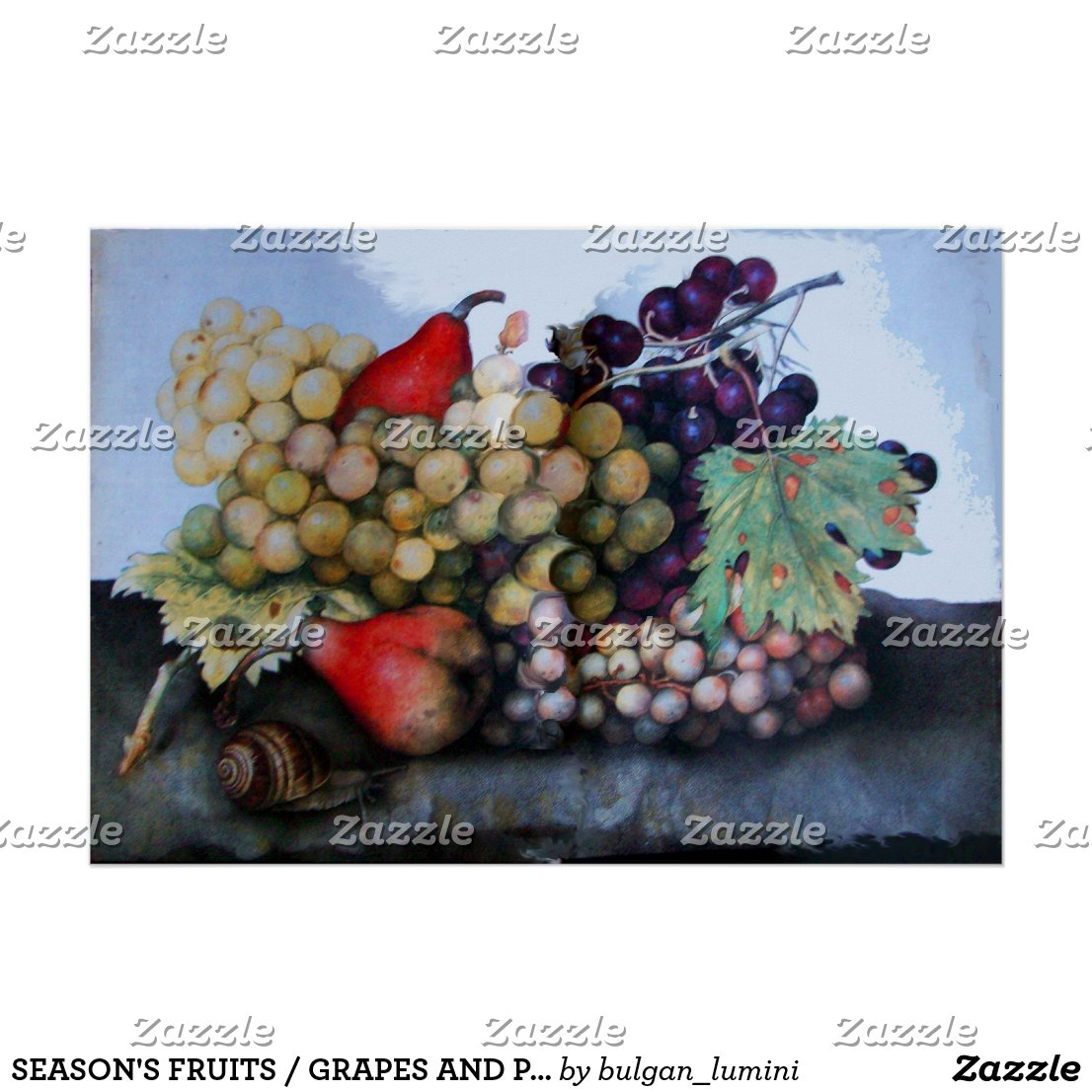 SEASON'S FRUITS / GRAPES AND PEARS POSTER