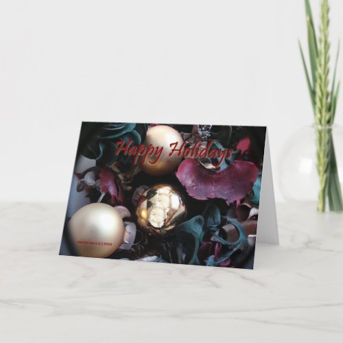Seasons: Happy Holidays - Customizable Card card