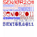 Senior 2011 - Red-White-Blue - Hoody Shirt shirt