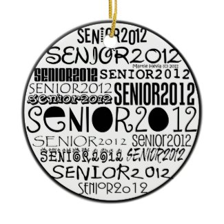 Senior 2012 (Black) Rearview Mirror Ornament ornament