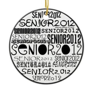 Senior 2012 (Black) Rearview Mirror Ornament ornament