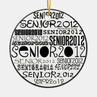 Senior 2012 (Black) Rearview Mirror Ornament