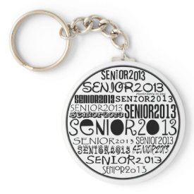 Senior 2013 Round Keychain (Black)