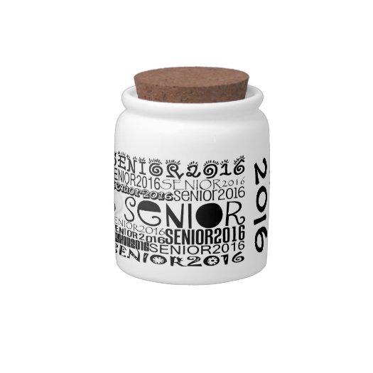 Senior 2016 Candy Jar (Personalize)