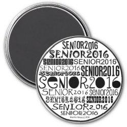 Senior 2016 Round Magnet
